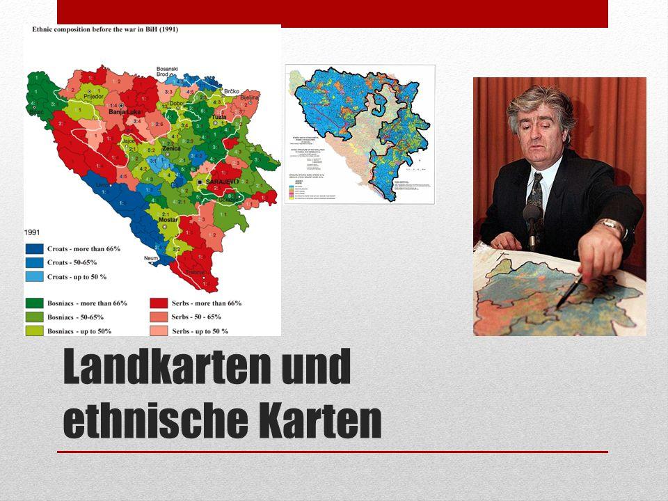 Landkarten und ethnische Karten