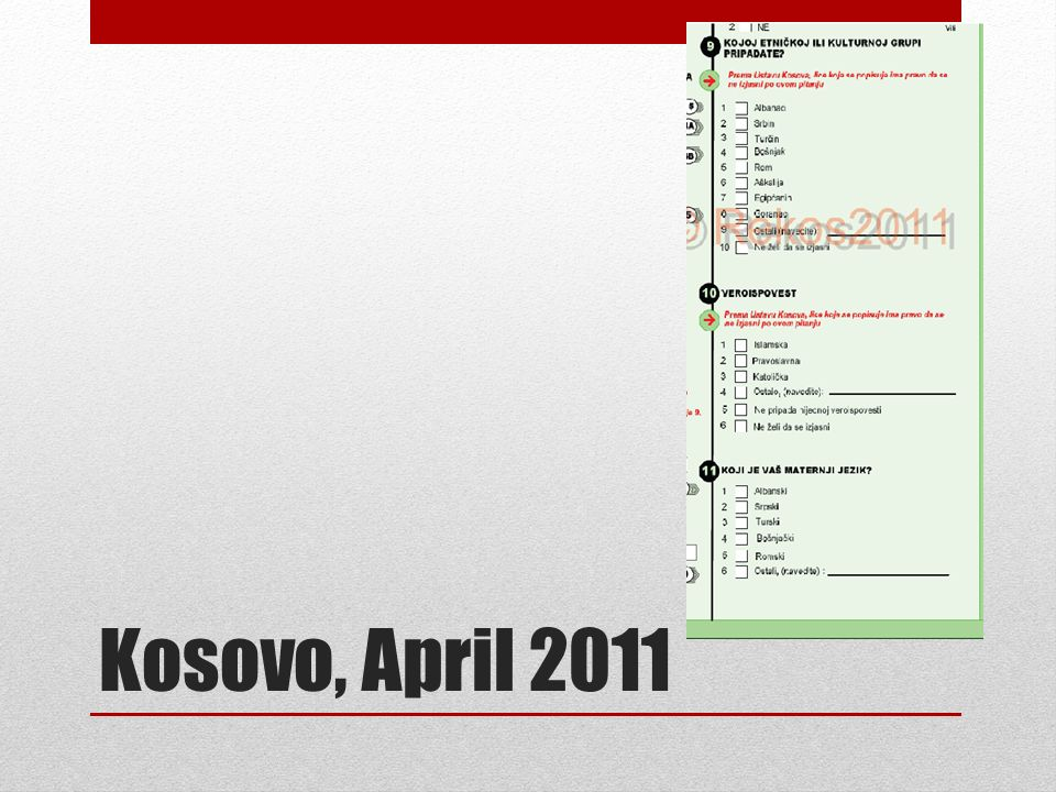 Kosovo, April 2011