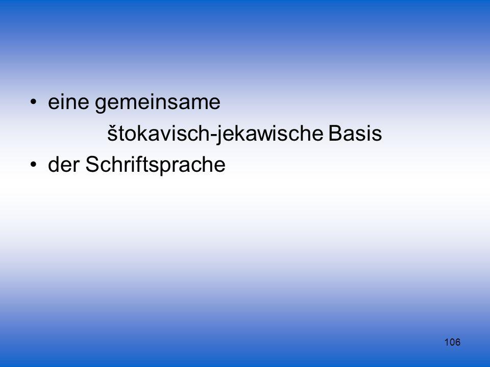 štokavisch-jekawische Basis