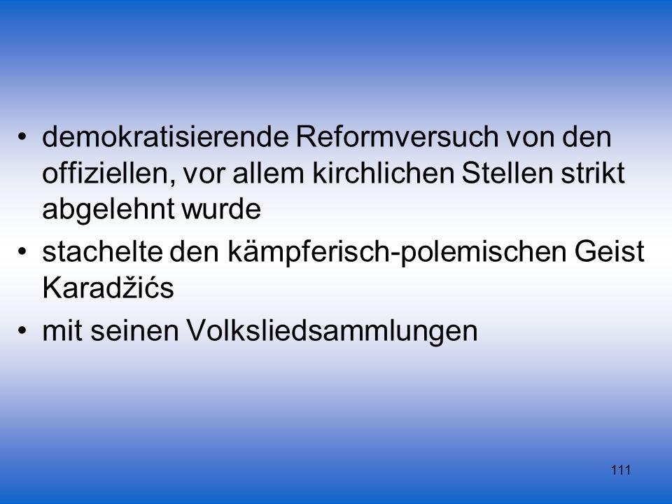 demokratisierende Reformversuch von den offiziellen, vor allem kirchlichen Stellen strikt abgelehnt wurde