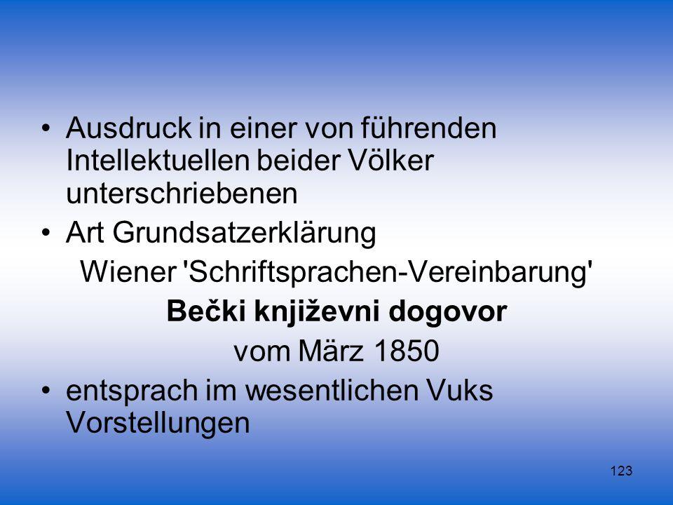 Art Grundsatzerklärung Wiener Schriftsprachen-Vereinbarung