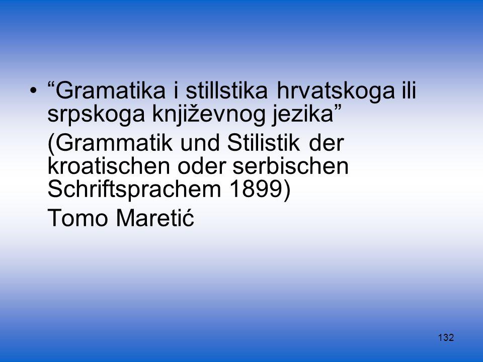 Gramatika i stillstika hrvatskoga ili srpskoga književnog jezika