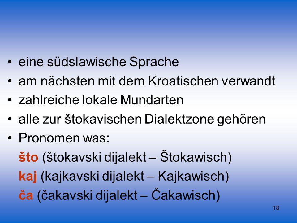 eine südslawische Sprache