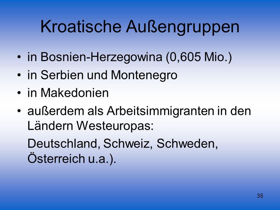 Kroatische Außengruppen