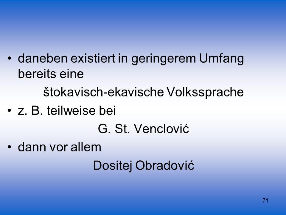 štokavisch-ekavische Volkssprache