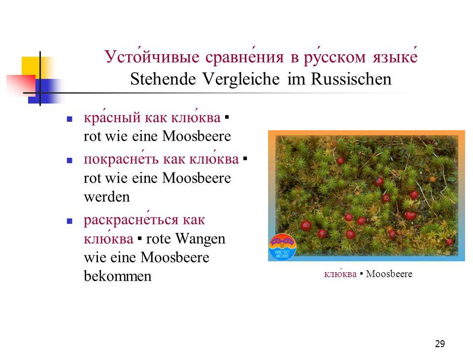 Усто́йчивые сравне́ния в ру́сском языке́ Stehende Vergleiche im Russischen