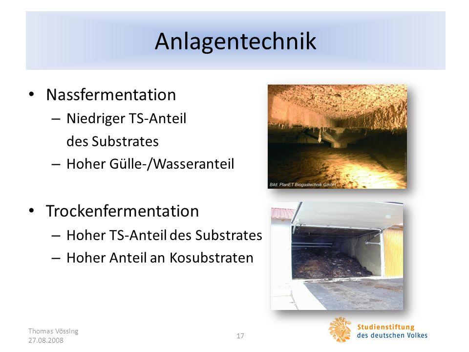 Anlagentechnik Nassfermentation Trockenfermentation