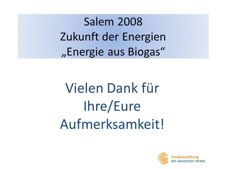 """Salem 2008 Zukunft der Energien """"Energie aus Biogas"""