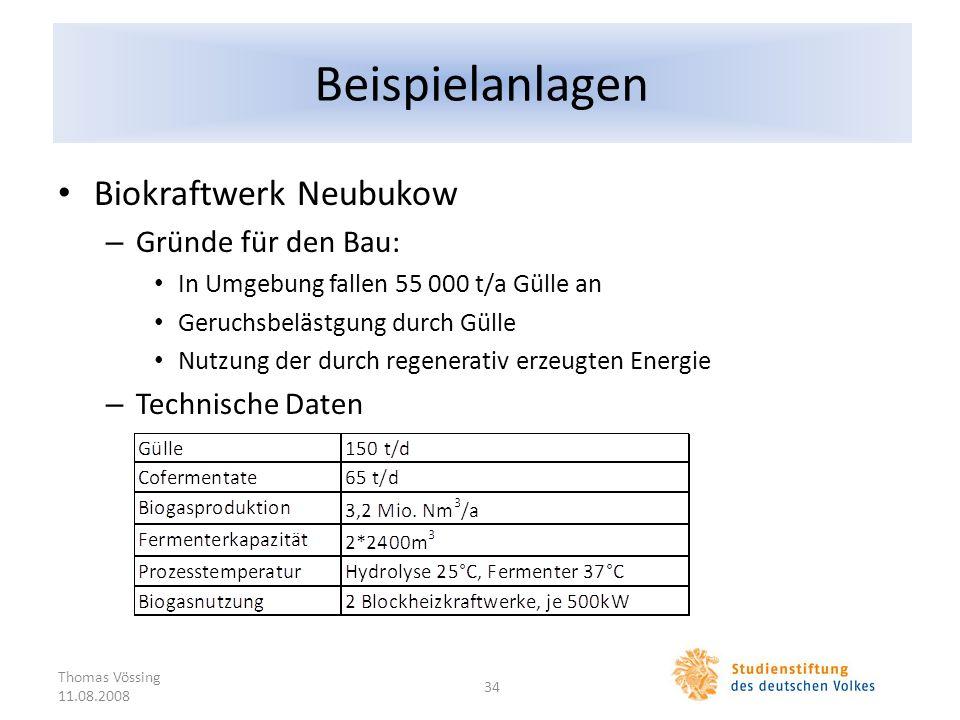 Beispielanlagen Biokraftwerk Neubukow Gründe für den Bau:
