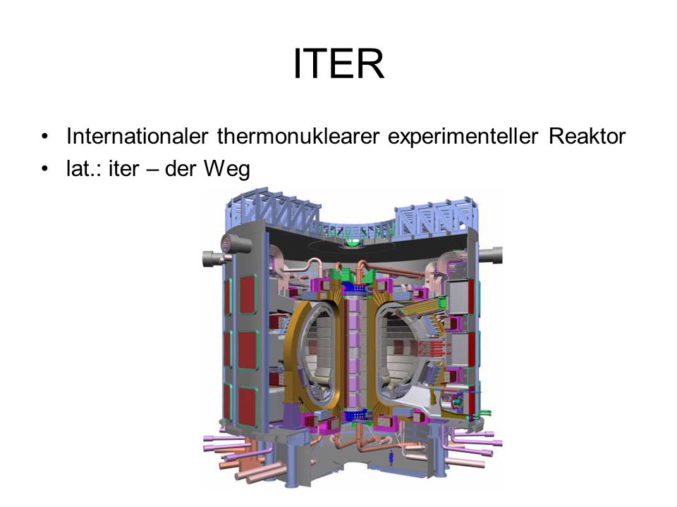 ITER Internationaler thermonuklearer experimenteller Reaktor