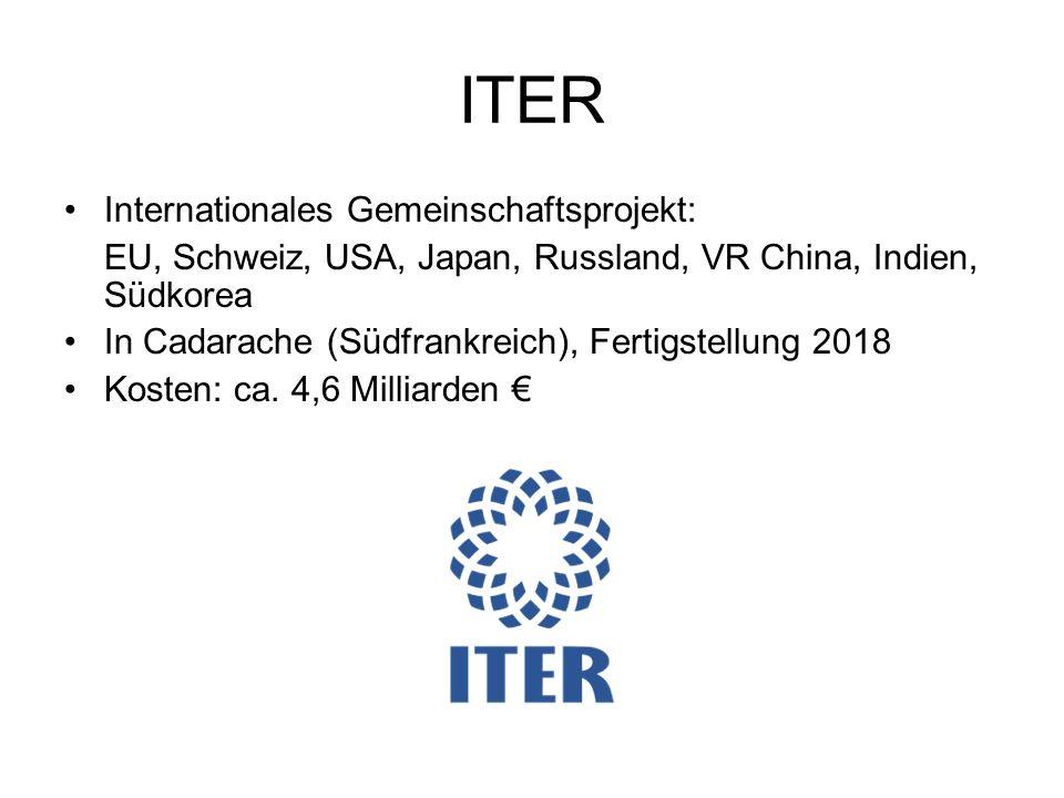ITER Internationales Gemeinschaftsprojekt: