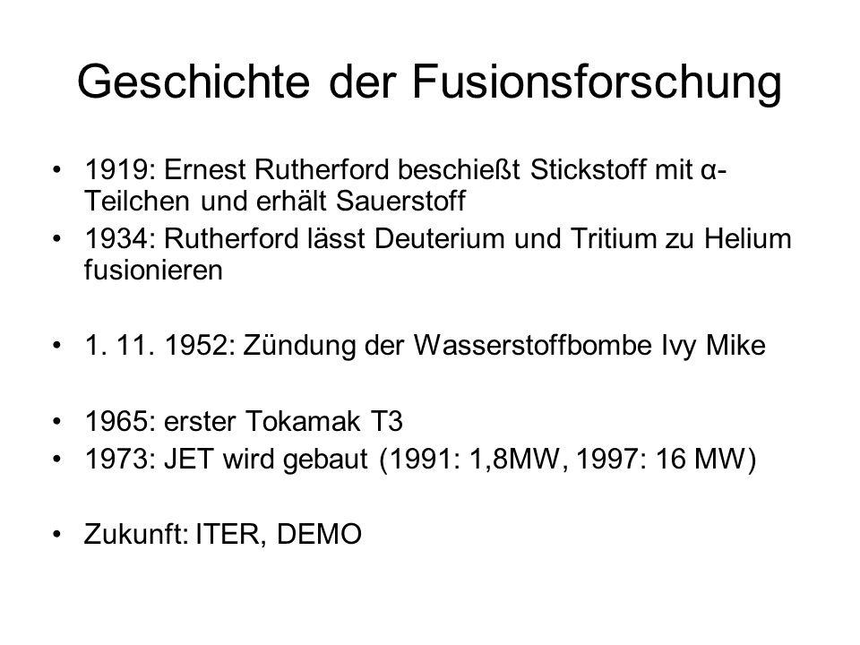 Geschichte der Fusionsforschung