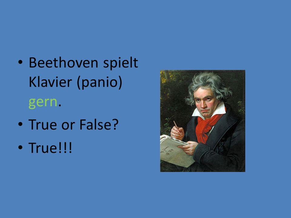 Beethoven spielt Klavier (panio) gern.