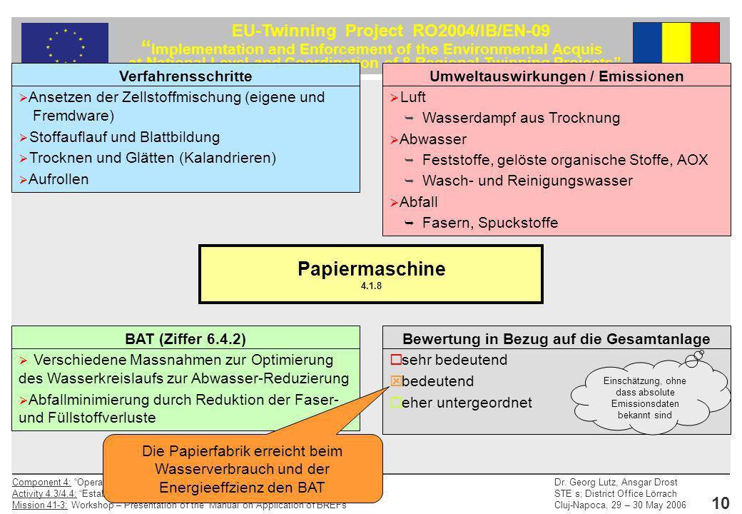 Papiermaschine 4.1.8 Verfahrensschritte
