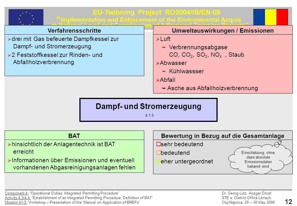 Dampf- und Stromerzeugung 4.1.9