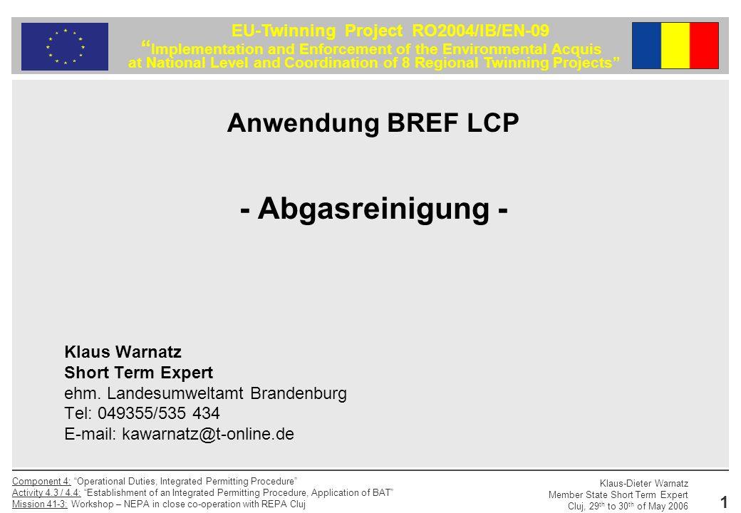 - Abgasreinigung - Anwendung BREF LCP