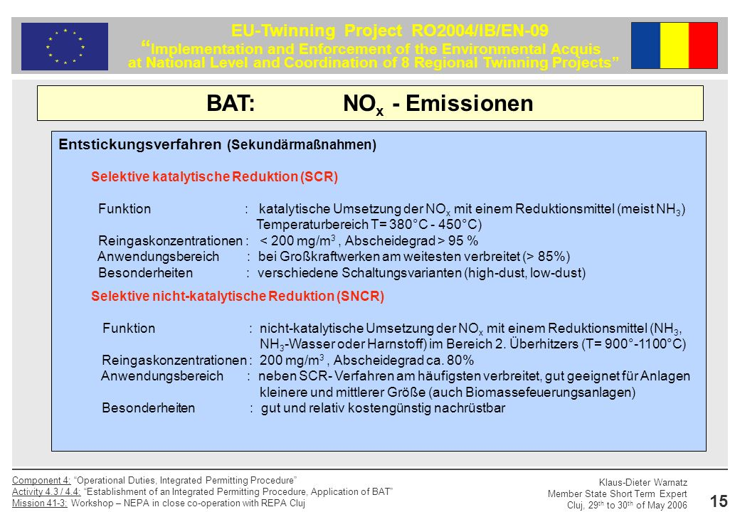 BAT: NOx - Emissionen