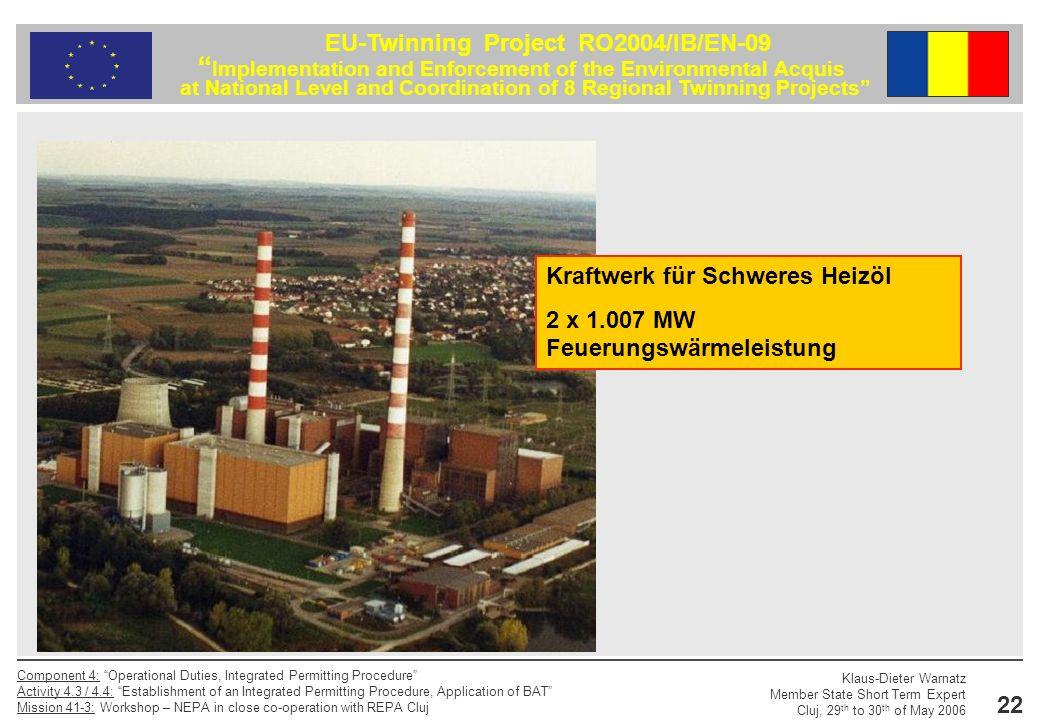 Kraftwerk für Schweres Heizöl