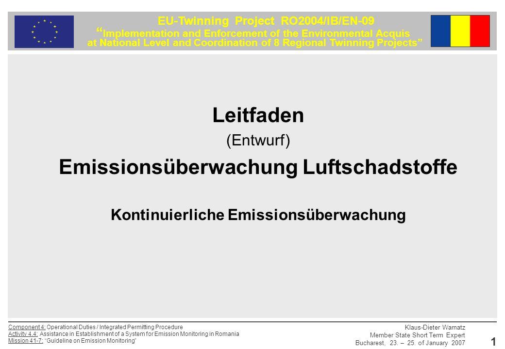 Leitfaden Emissionsüberwachung Luftschadstoffe