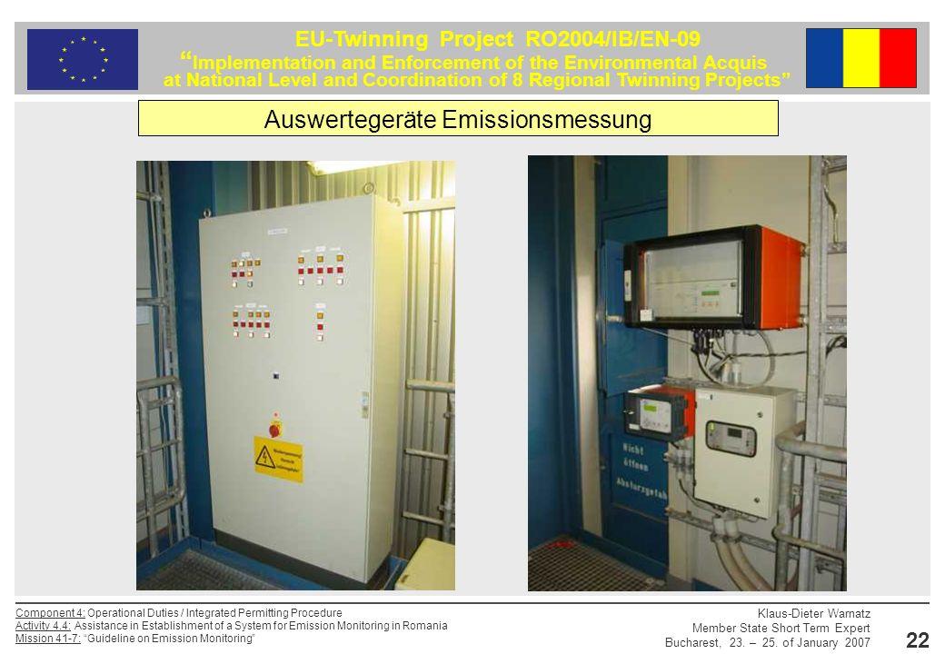 Auswertegeräte Emissionsmessung