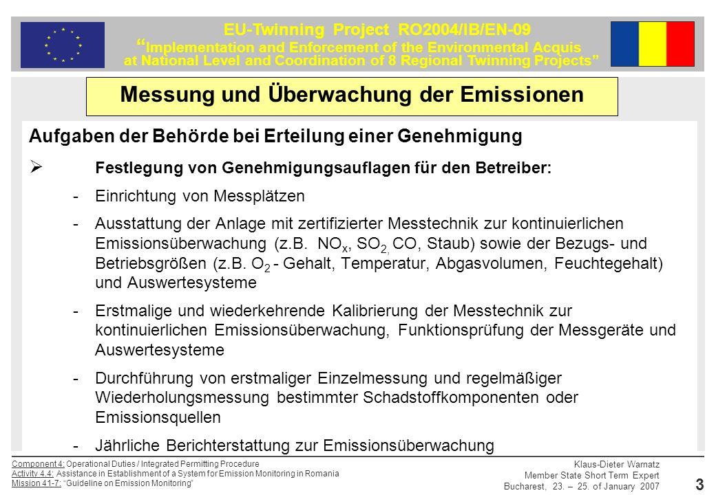 Messung und Überwachung der Emissionen