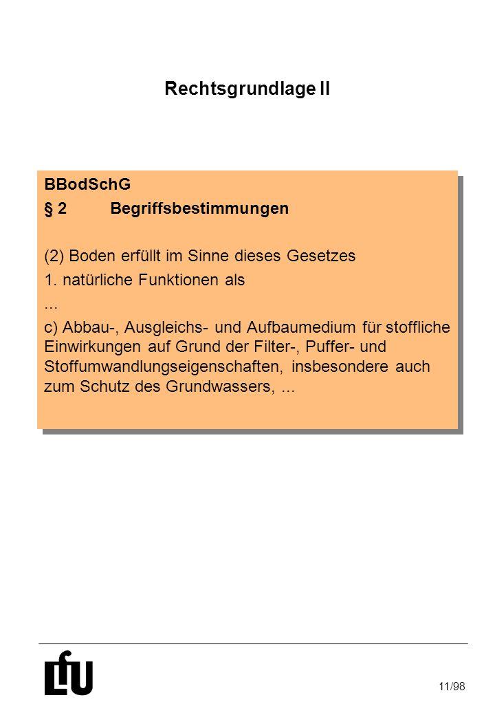 Rechtsgrundlage II BBodSchG § 2 Begriffsbestimmungen