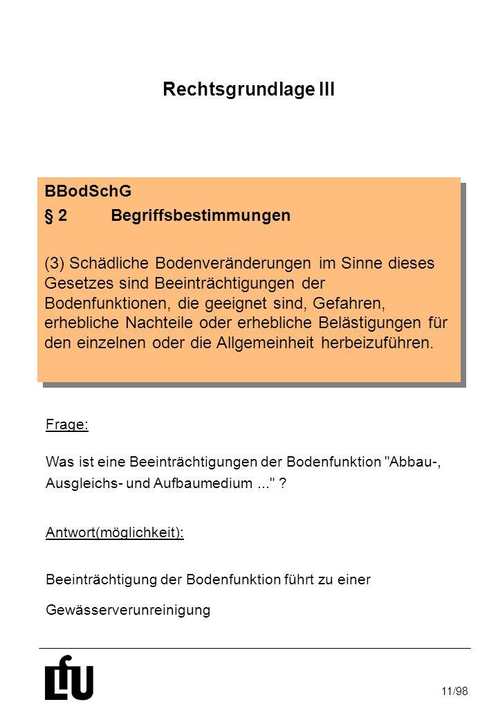 Rechtsgrundlage III BBodSchG § 2 Begriffsbestimmungen