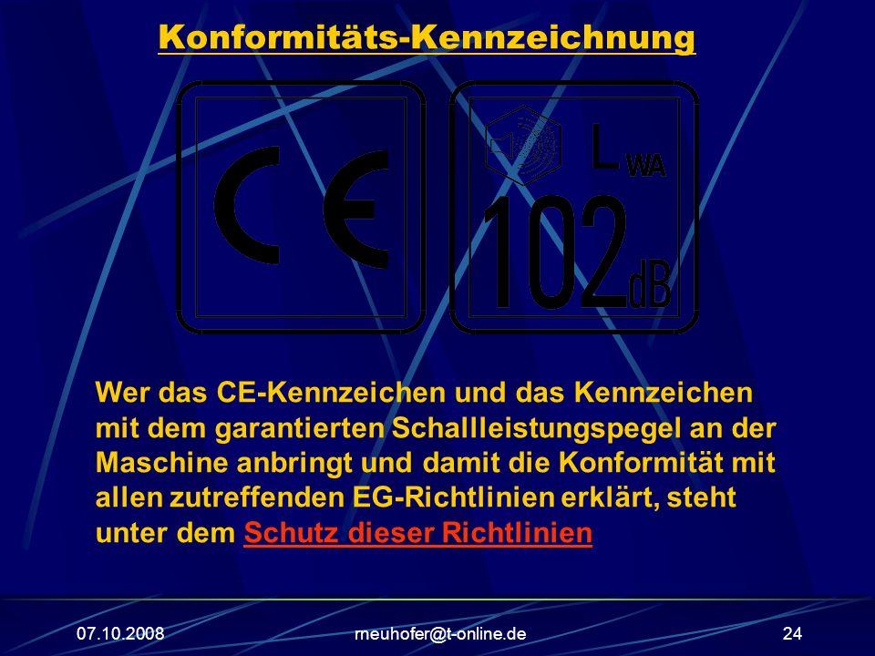Konformitäts-Kennzeichnung