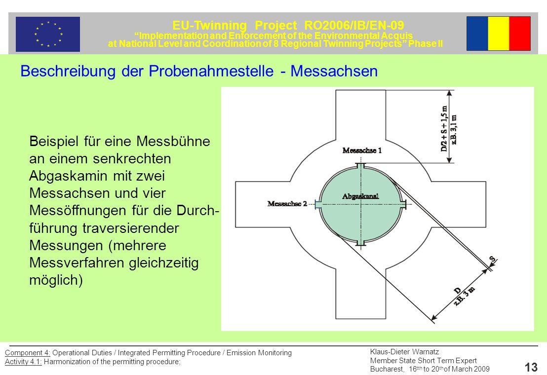 Beschreibung der Probenahmestelle - Messachsen