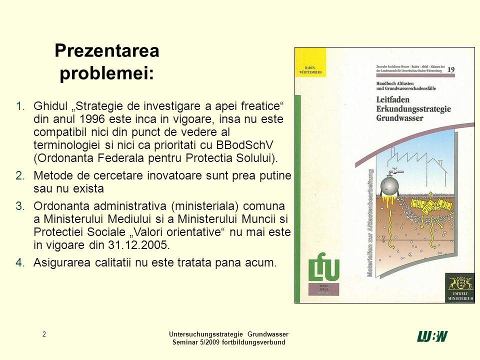 Untersuchungsstrategie Grundwasser
