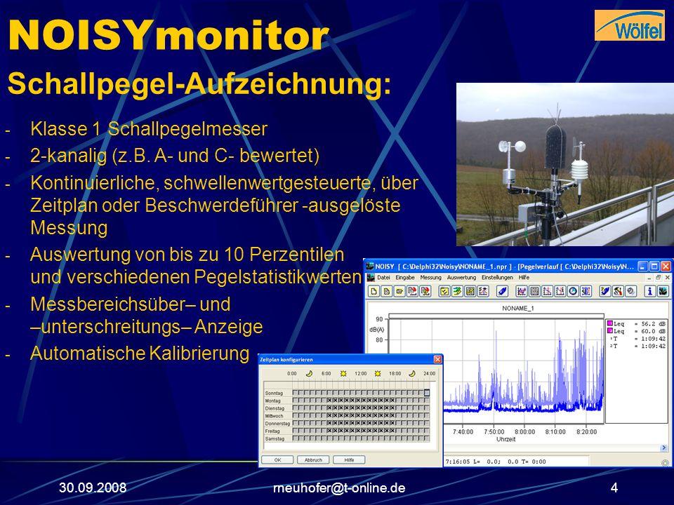 NOISYmonitor Schallpegel-Aufzeichnung: Klasse 1 Schallpegelmesser