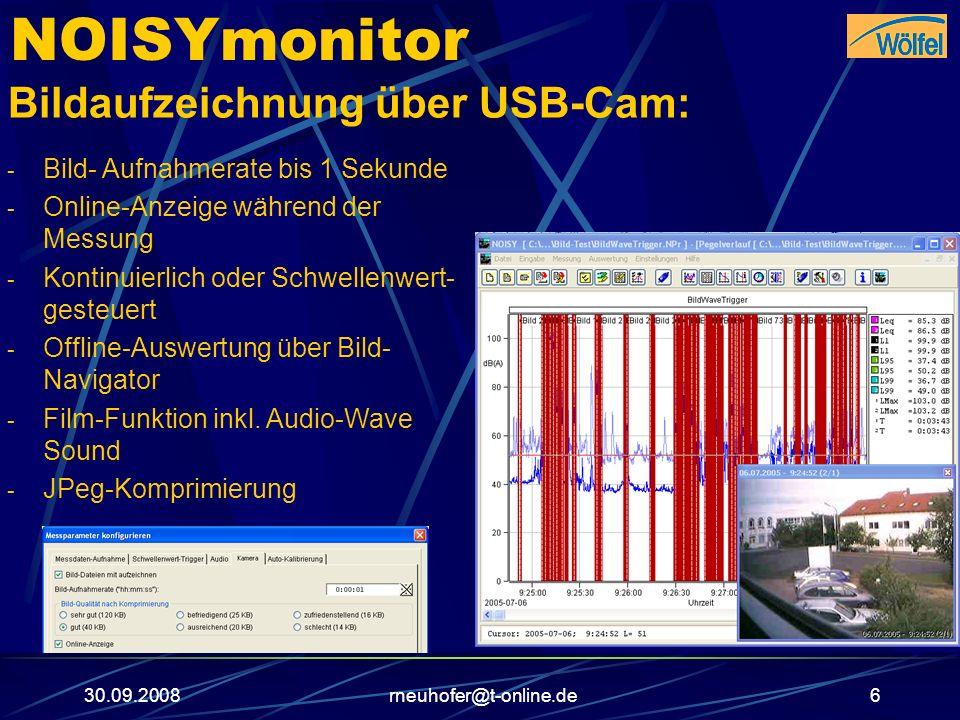 NOISYmonitor Bildaufzeichnung über USB-Cam: