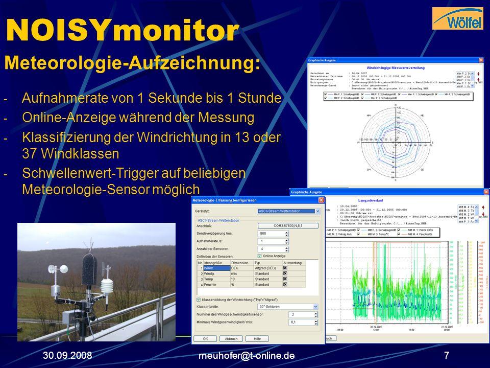 NOISYmonitor Meteorologie-Aufzeichnung: