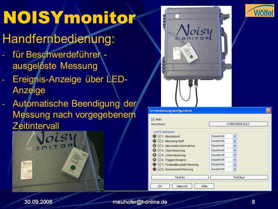 NOISYmonitor Handfernbedienung: