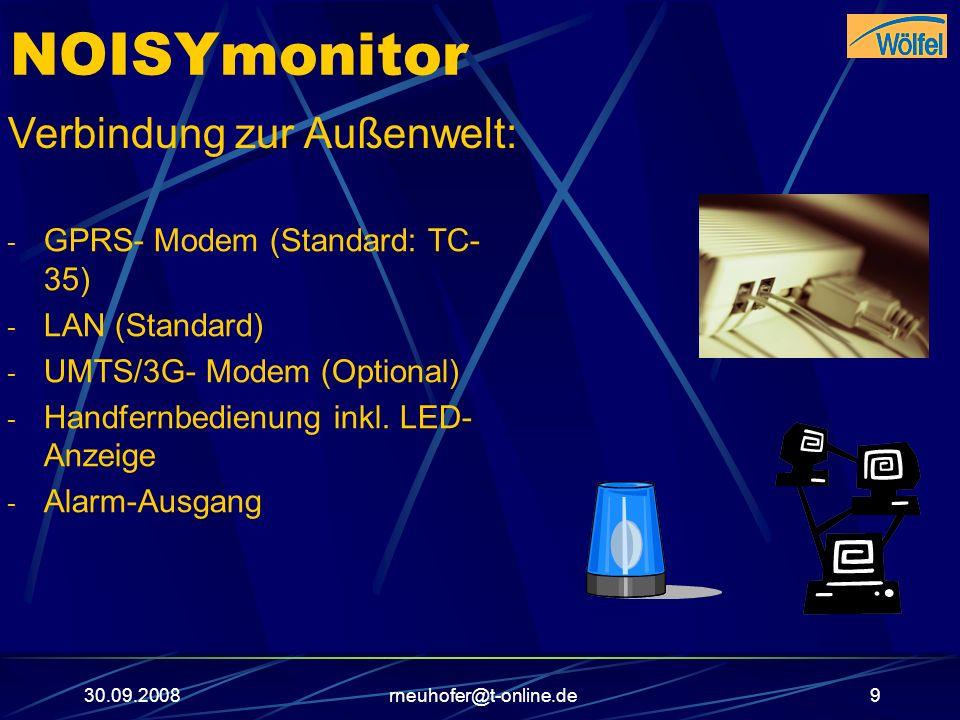 NOISYmonitor Verbindung zur Außenwelt: GPRS- Modem (Standard: TC-35)