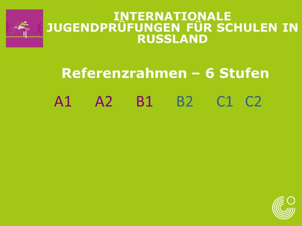 A1 A2 B1 B2 C1 C2 Referenzrahmen – 6 Stufen