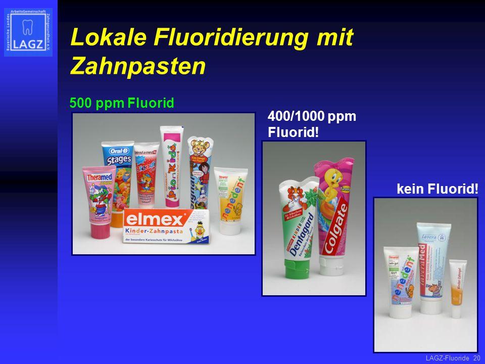 Lokale Fluoridierung mit Zahnpasten