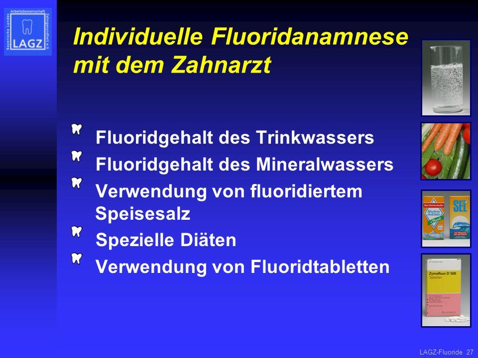 Individuelle Fluoridanamnese mit dem Zahnarzt