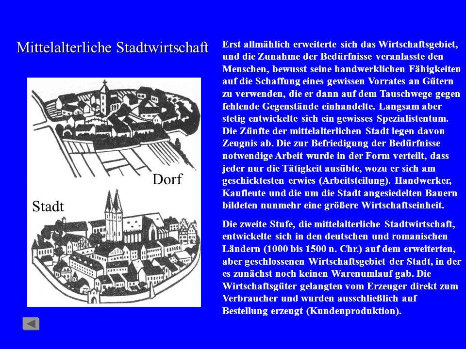 Mittelalterliche Stadtwirtschaft