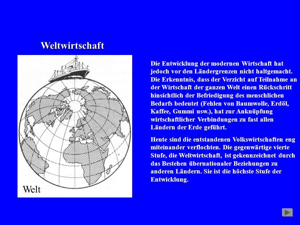 Weltwirtschaft Welt.