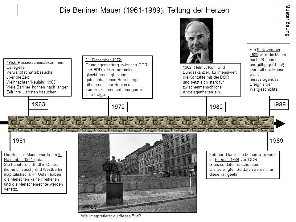Die Berliner Mauer (1961-1989): Teilung der Herzen