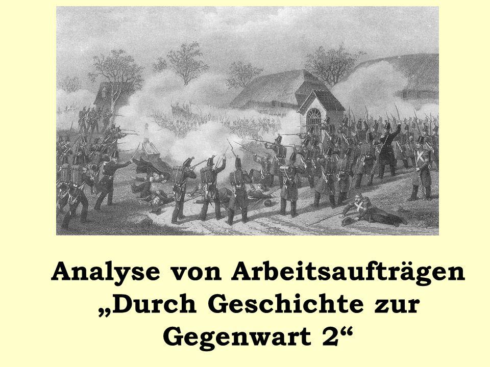 """Analyse von Arbeitsaufträgen """"Durch Geschichte zur Gegenwart 2"""
