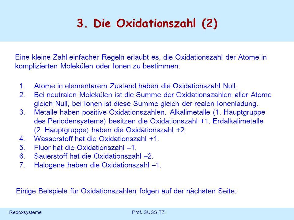 3. Die Oxidationszahl (2)