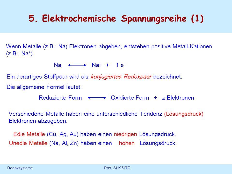 5. Elektrochemische Spannungsreihe (1)