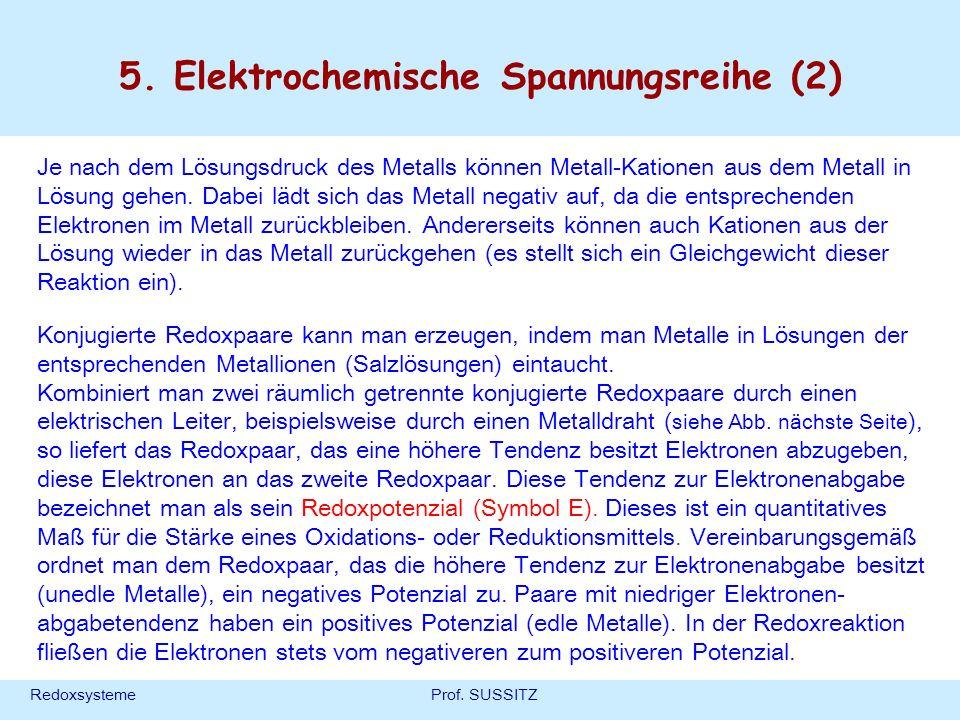 5. Elektrochemische Spannungsreihe (2)