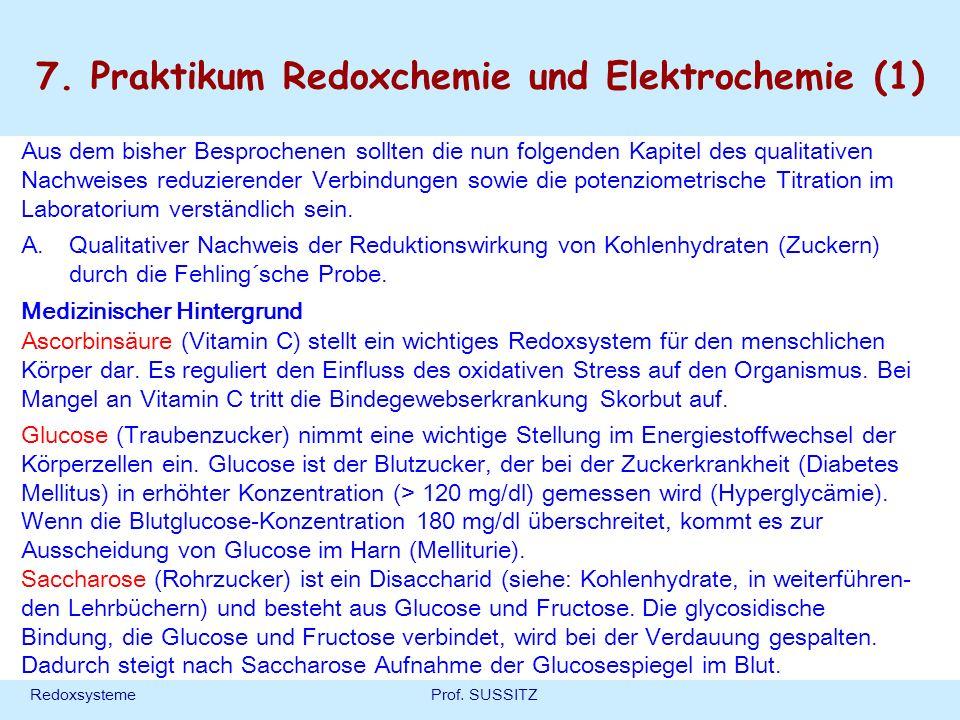 7. Praktikum Redoxchemie und Elektrochemie (1)