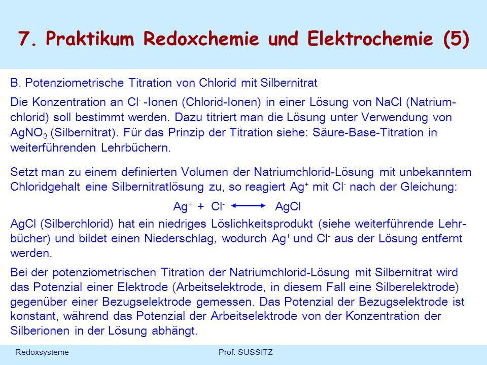 7. Praktikum Redoxchemie und Elektrochemie (5)