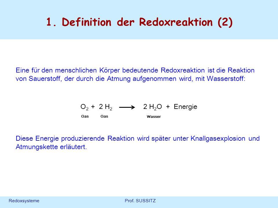 1. Definition der Redoxreaktion (2)
