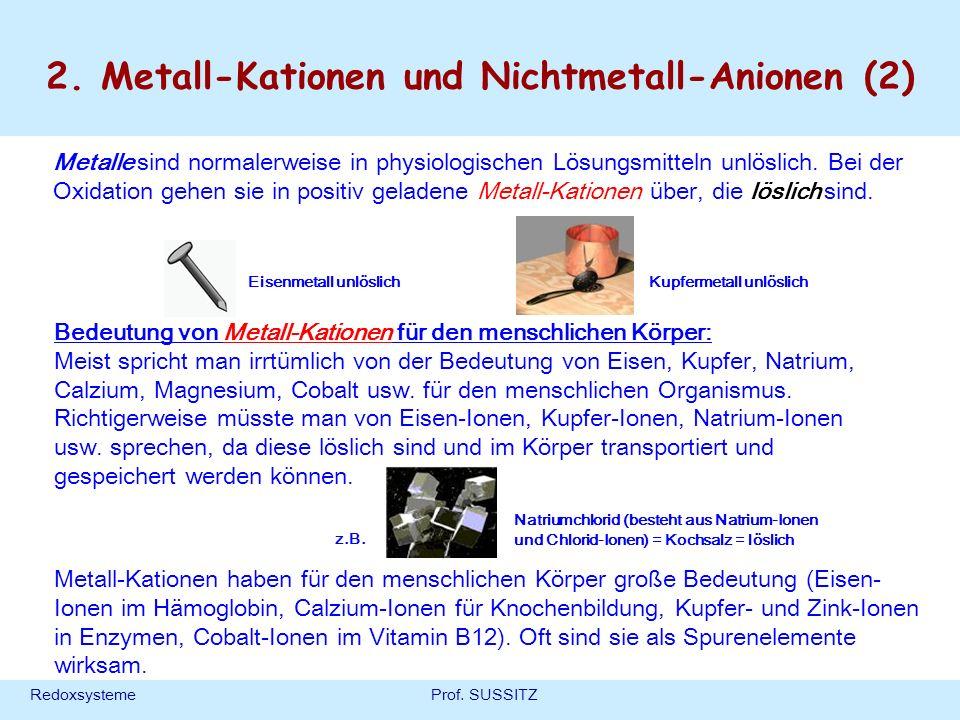 2. Metall-Kationen und Nichtmetall-Anionen (2)