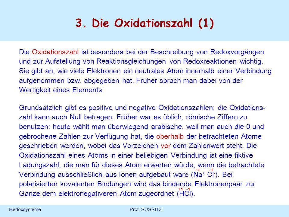 3. Die Oxidationszahl (1)